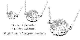 Single Initial Monogram Necklace Deidreamers Jewelry