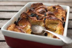 luxury brioche bread and butter pudding