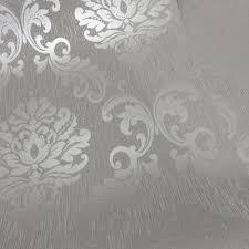 Grey And White Bedroom Ideas Uk Henderson Interiors Chelsea Glitter Damask Wallpaper Soft Grey