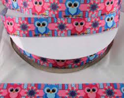 grosgrain ribbon by the yard owl ribbon etsy