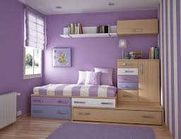 bedroom double color design with purple paint colors for kitchen