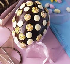 how to make easter eggs simple chocolate button egg recipe bbc good food