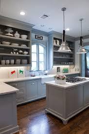 white gray kitchen ideas chrome pendant lights solid hardwood