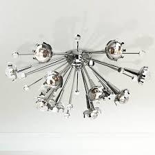 Nickel Ceiling Light Jonathan Adler Sputnik Flush Mount Nickel Ceiling Light X1817