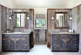 rustic bathroom vanity with wood mirror over mirrors for ideas
