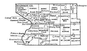 Illinois Map Of Cities by Madison County Illinois Maps And Gazetteers