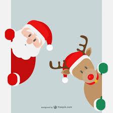 santa claus and reindeer vector free