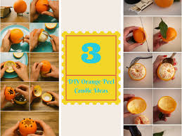3 easy tutorials on how to make orange peel candles