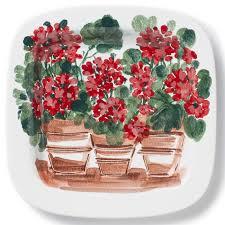 landscape wall plates geraniums wall plate vietri