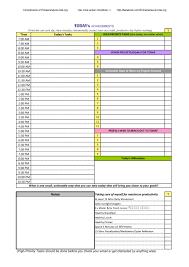daily agenda samples