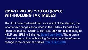 withholding tax table 2016 2016 2017 payg withholding tax tables marcos accountants
