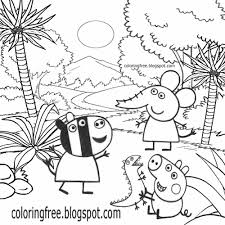 peppa pig coloring pages printable peppa pig colouring activity