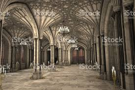 Cathedral Interior Gothic Cathedral Interior 3d Illustration Stock Photo 542173154