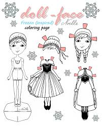 doll face anna coloring page diy