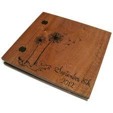 wooden photo album wedding wooden album scrapbook wood burnt 12 x