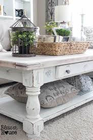 white farmhouse coffee table 37 coffee table decorating ideas to get your living room in shape