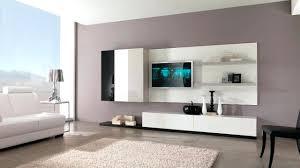 High Hang Tv Living Room High Gloss Living Room Set With Led Lights Tv Stand Wall Mounted