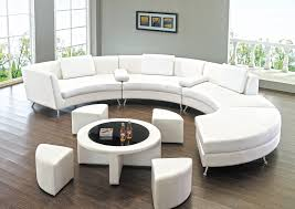 White Leather Sectional Sofa Modern Line Furniture Commercial Furniture Custom Made