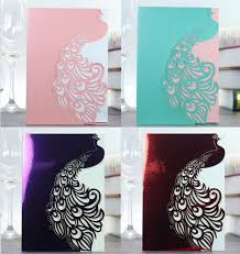 Cheap Party Invitation Cards Online Get Cheap Peacock Invitations Card Aliexpress Com