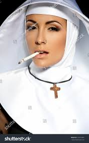 Nun Halloween Makeup by Nun Halloween Nun Smoking Stock Photo 222412681 Shutterstock