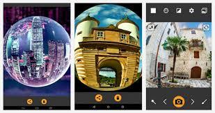 Lensa Cembung Selfie kumpulan aplikasi kamera fisheye terbaik untuk hp android gratis