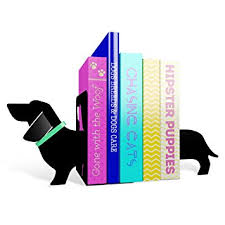 Unique Book Ends Mustard Really Long Sausage Dog Bookends I Metal Bookends I