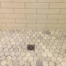 bathroom shower floor tile hton carrara hex marble mosaic