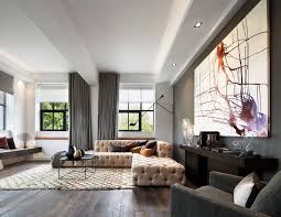 Living Room Furniture St Louis by Tufted Sectional Sofa Living Room Transitional With City And Country