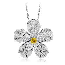 yellow diamond pendant necklace images 18k white gold elegant floral diamond pendant mosaic collection png