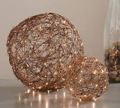 Large Vase With Twigs Faux Lit Twig Orbs Pottery Barn
