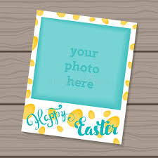 happy easter decorative template frame design for photo frame