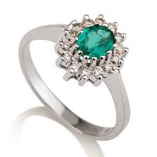 natural emerald engagement ring 14k white gold ring 1 28 tcw