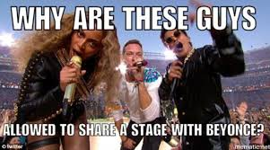 coldplay jokes super bowl 50 sees twitter erupt with memes as chris martin gets
