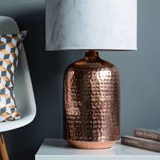 Copper Table Lamp Copper Or Gold Hammered Pot Table Lamp Base By Quirk