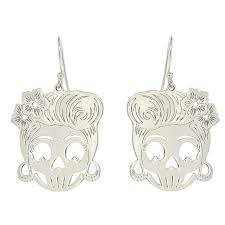 rockabilly earrings rockabilly skull earrings adorn jewellers of chesterfield