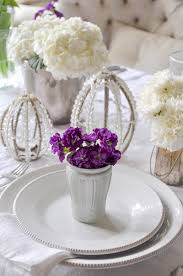 Flower Table L Style Your Place Settings With Flowers Decor Gold Designs