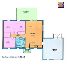 plans maison plain pied 3 chambres plan maison plain pied 3 chambres maisons bungalow