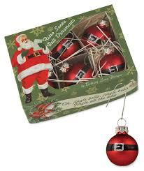 mini santa belt ornaments bethany lowe theholidaybarn