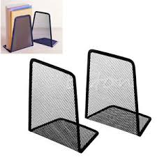 Mesh Desk Organizer 1pair Metal Mesh Desk Organizer Black Home Desktop Office Bookends