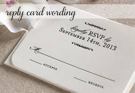 wedding reply card wording response card wording for wedding invitations