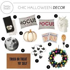 chic halloween decor u2014 this that