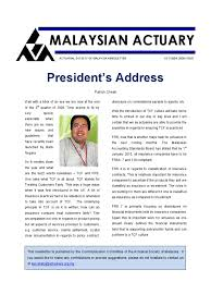 actuarial society of malaysia octnewsletter actuary insurance