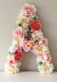 Decorative Letter Blocks For Home Floral Letters From Begoniaroseco On Etsy Handmade Floral Decor