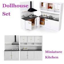 dollhouse furniture kitchen dollhouse kitchen sets ebay