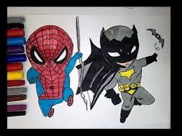 draw color spiderman batman baby superheroes coloring pages