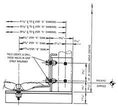 handrail brackets heavy duty accessories grip strut brown
