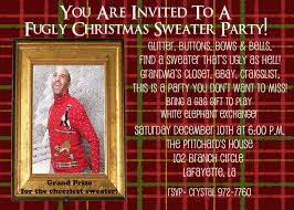 customized christmas party invite ugly sweater party fugly sweater