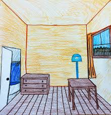 Bedroom Design Drawings The Helpful Art Teacher Draw A Surrealistic Room In One Point