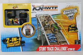 monster truck jam youtube monster jam stunt track challenge ramp u0026 monster truck storage