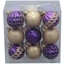 time 18 pack purple gold ornaments walmart